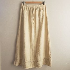 Vintage Stamp Brand Maxi Skirt Bone
